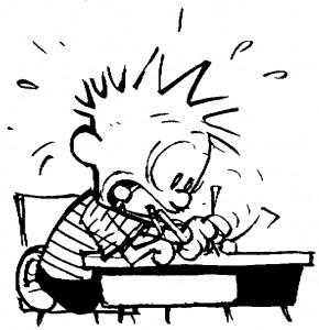 2. Writing furiously